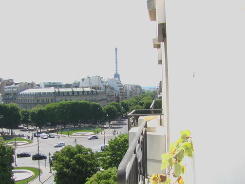 You may think you're still dreaming when you wake up and find the Eiffel Tower outside your bedroom window